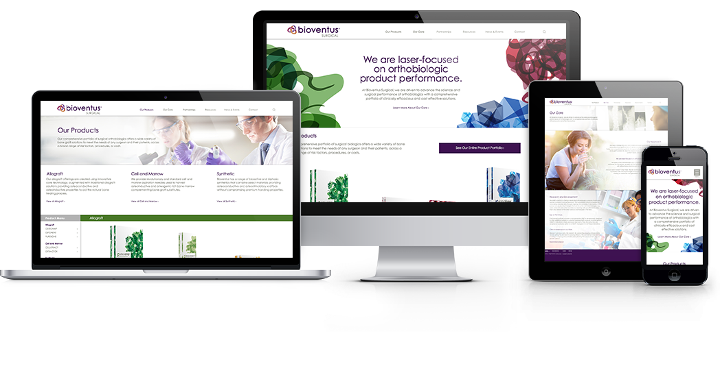 bioventus website on multiple devices