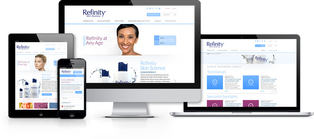 refinity website on multiple devicees