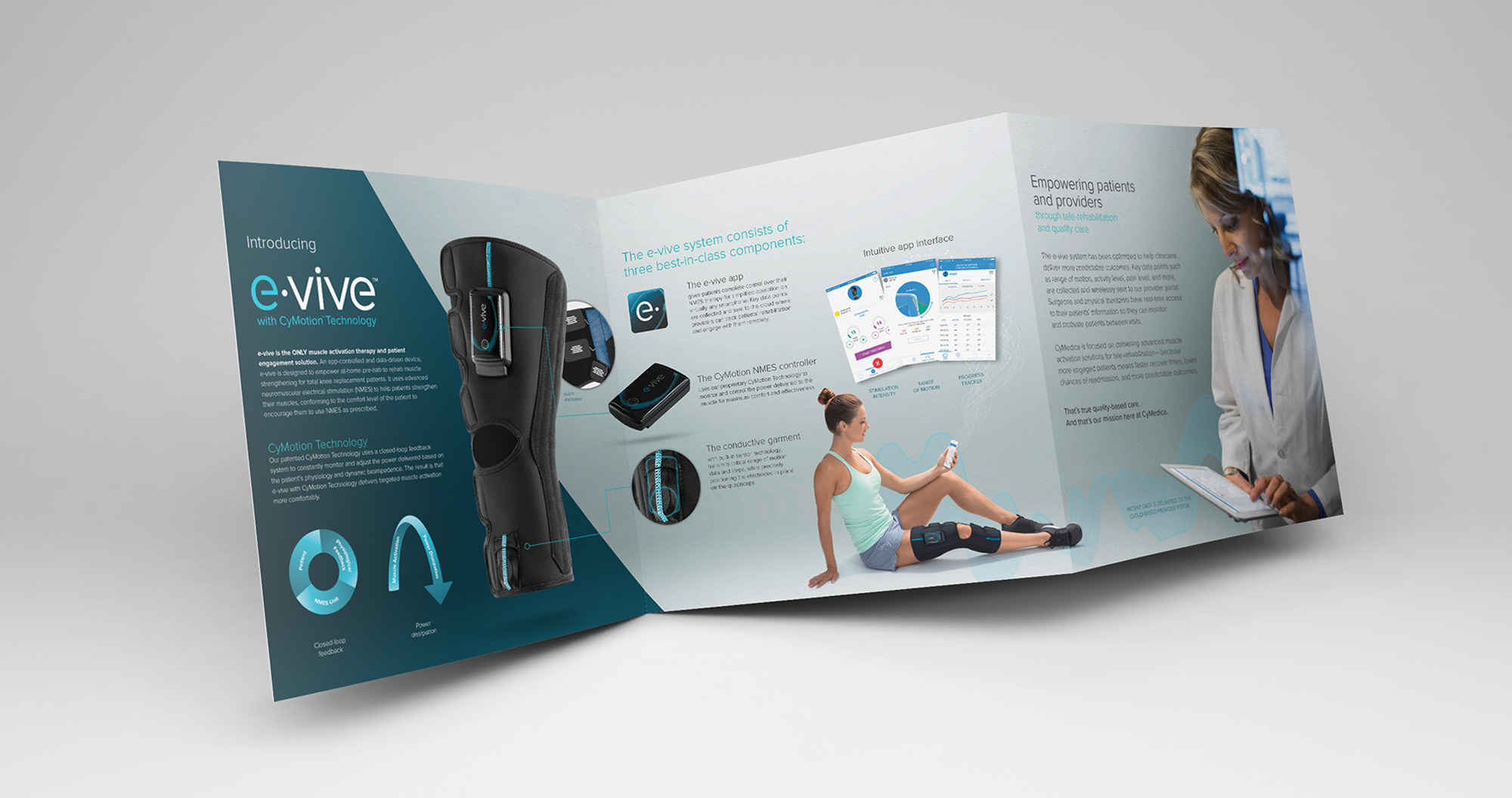 cymedica brochure showing evive