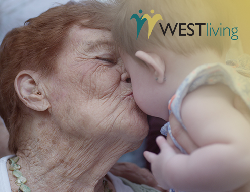 westliving resident with baby